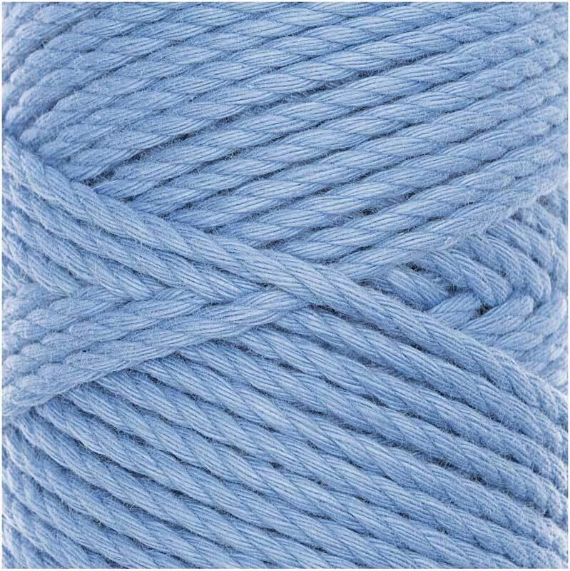 Corde macramé Cotton Cord Skinny - Ø 3 mm, bleu