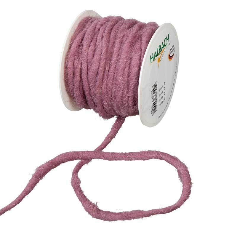 Cordon en laine feutrée, Ø env. 5 mm, baies