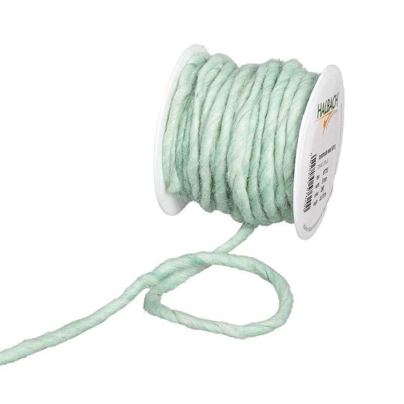 Cordon en laine feutrée, Ø env. 5 mm, menthe