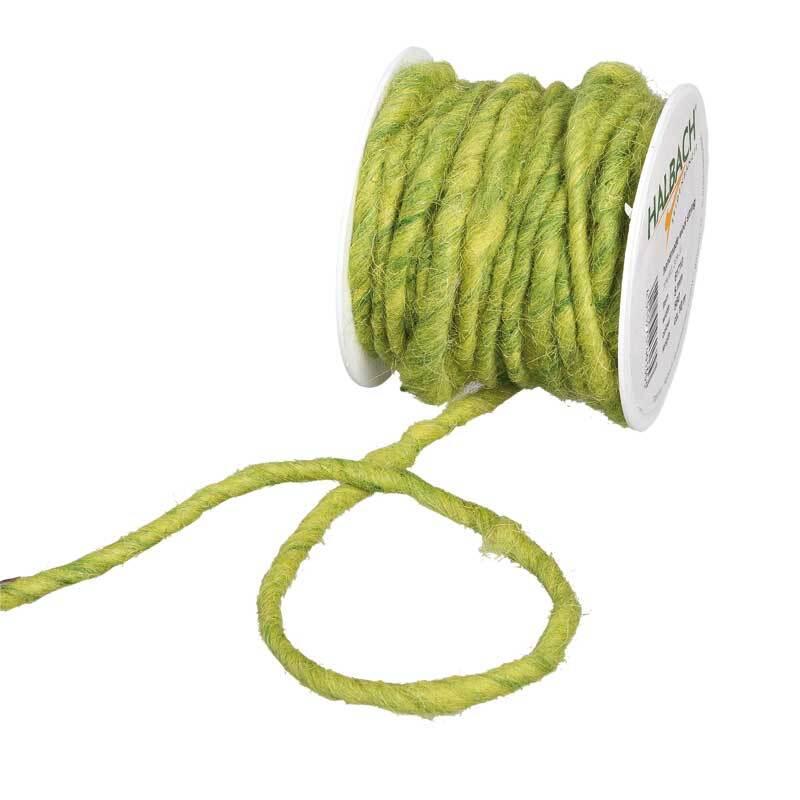 Cordon en laine feutrée, Ø env. 5 mm, vert