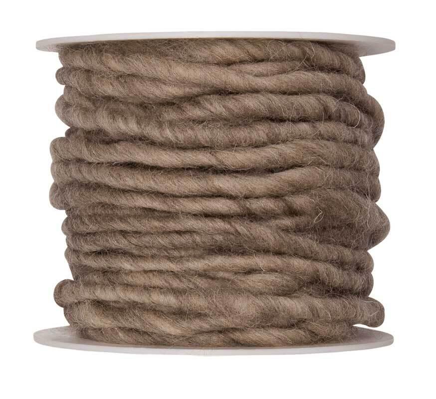 Cordon en laine feutrée, Ø env. 5 mm, naturel