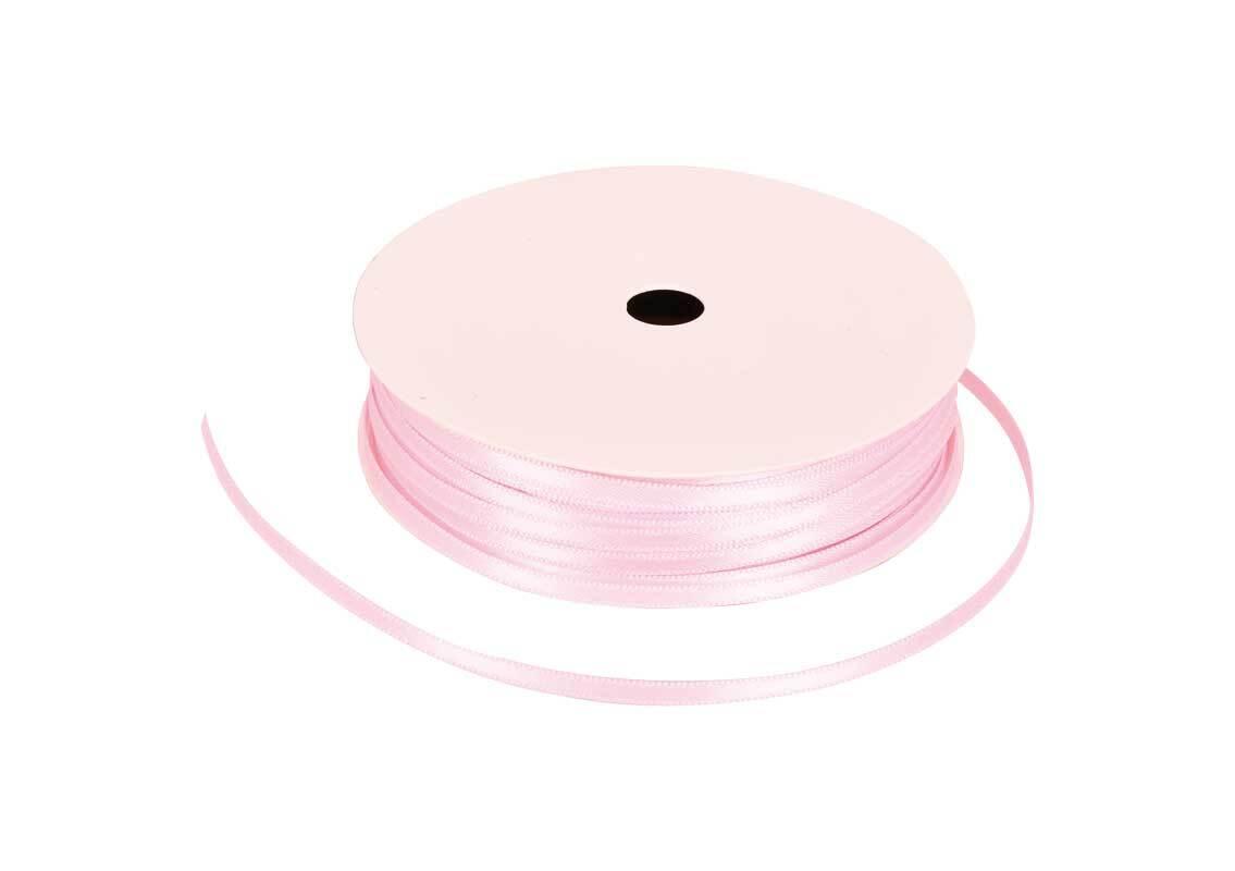 Satinband mit Webkante - 3 mm, puder