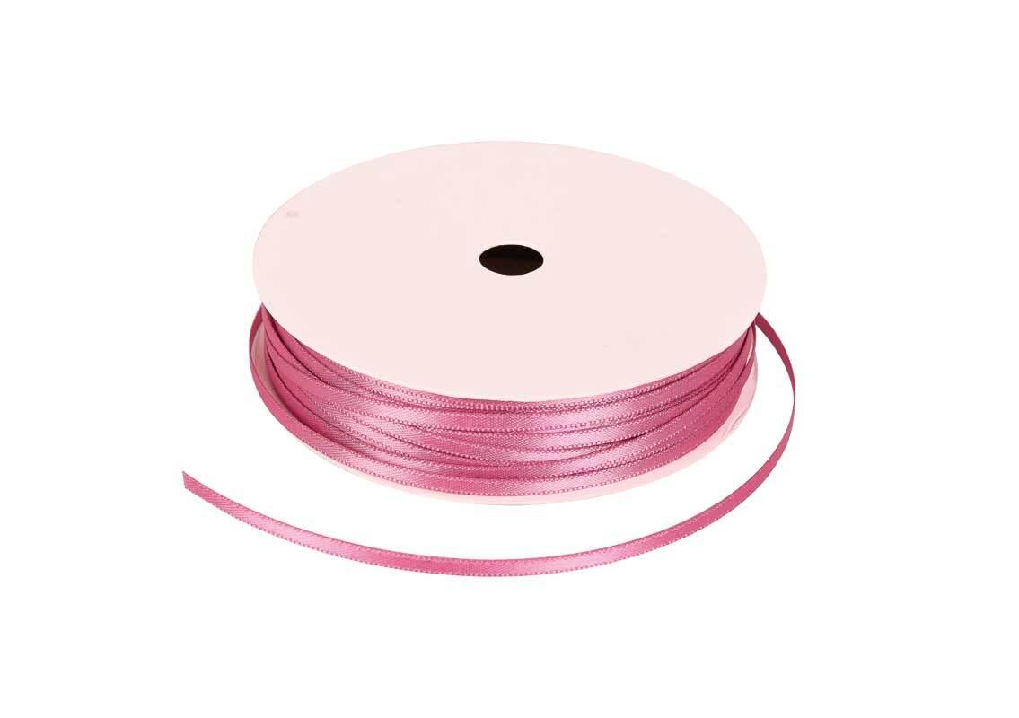Satinband mit Webkante - 3 mm, malve