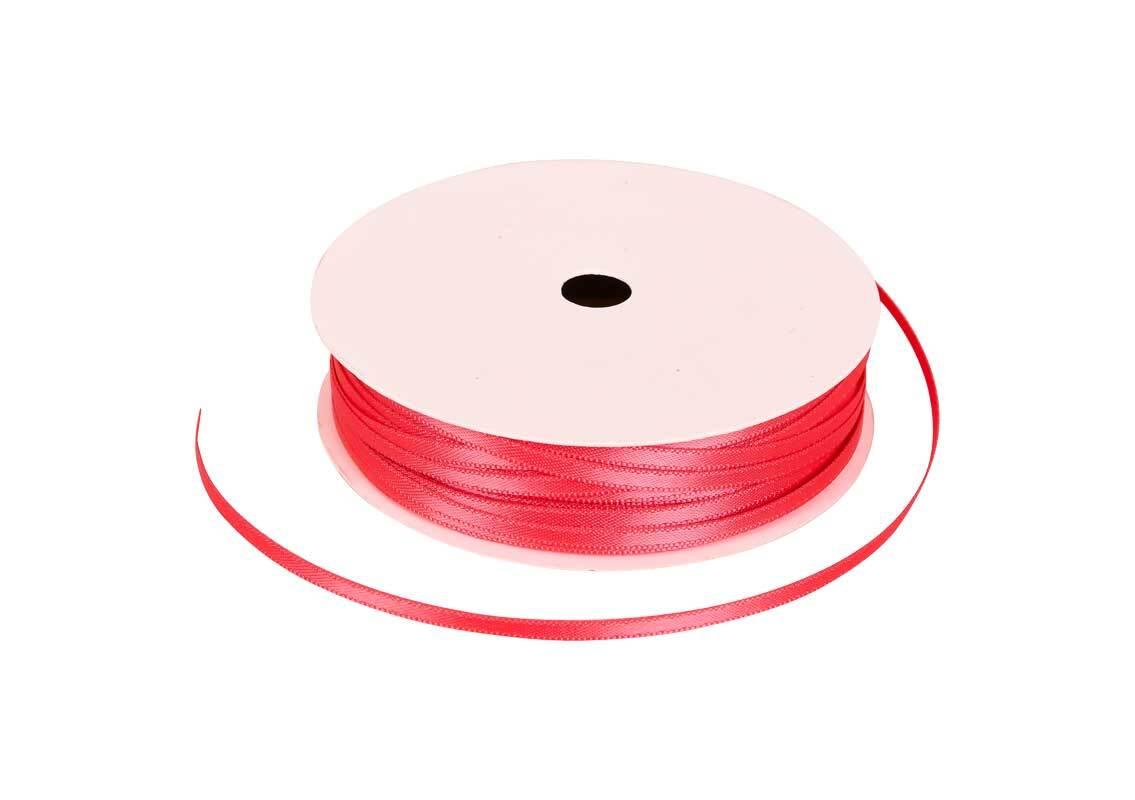 Satinband mit Webkante - 3 mm, wassermelone