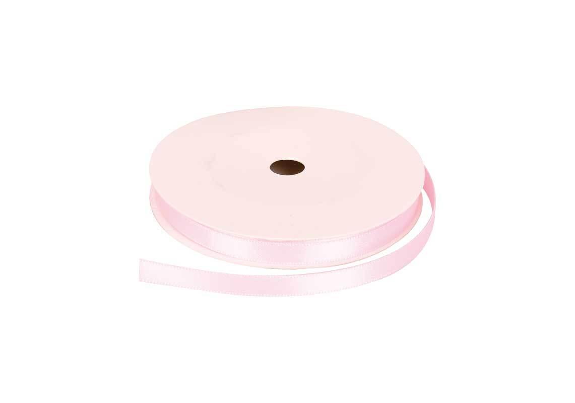 Satinband mit Webkante - 6 mm, puder