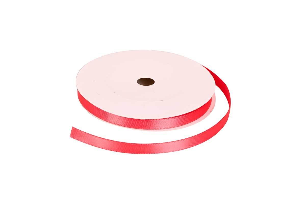 Satinband mit Webkante - 6 mm, wassermelone