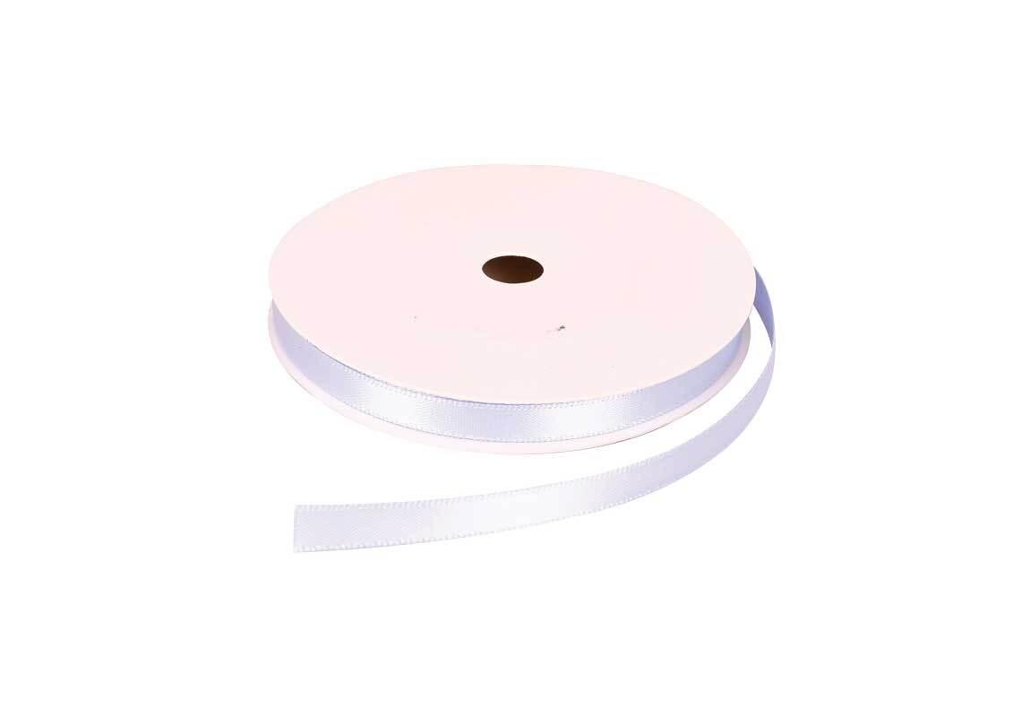 Satinband mit Webkante - 6 mm, eisblau