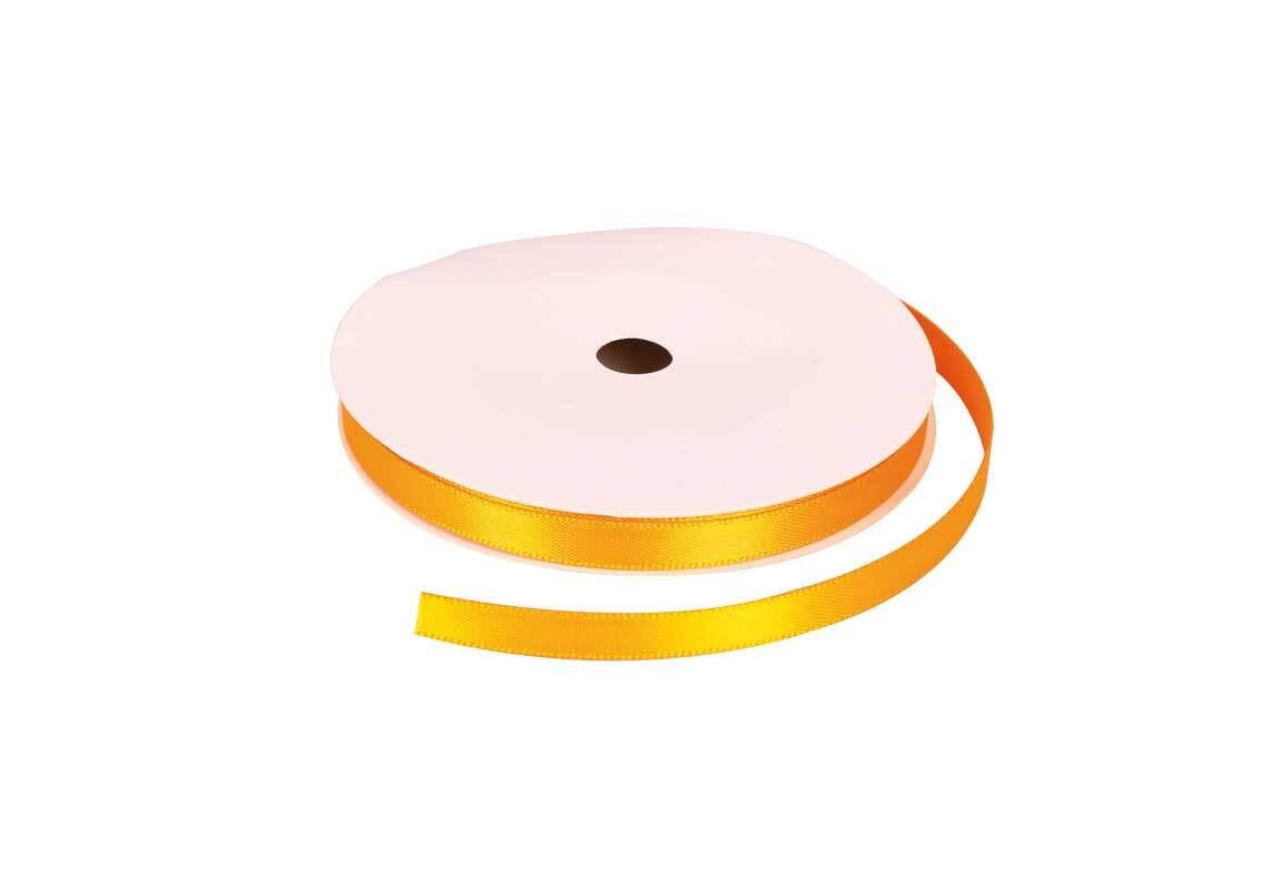 Satinband mit Webkante - 6 mm, honig
