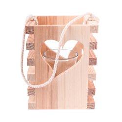 Windlicht aus Holz