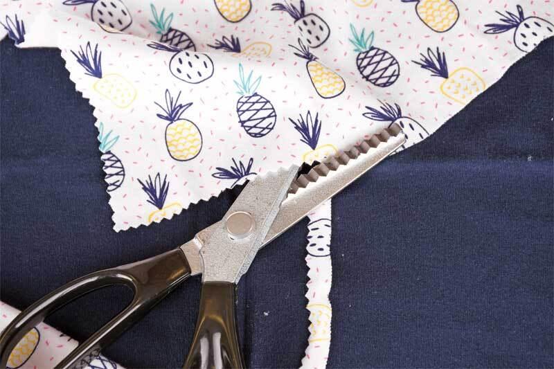 Ciseaux crantés pour tissus, 20 cm