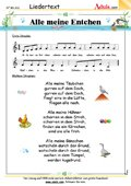 Kinderlieder / bekannte Lieder