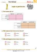 Lengtematen / gewichten