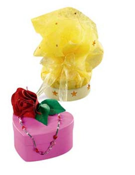 Boites à cadeaux - carrés, multicolore