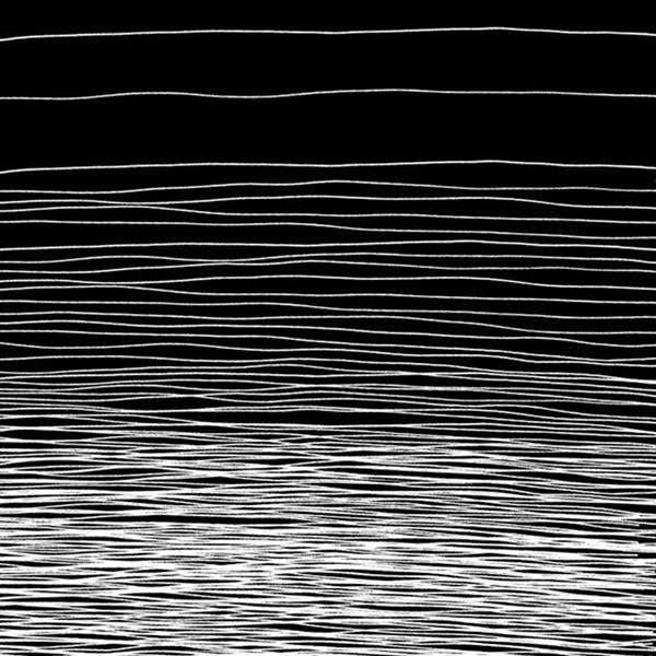 Servetten - 20 st./pak, Horizon zwart