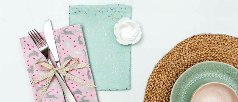 Tissu coton - Hotfoil, traits/menthe
