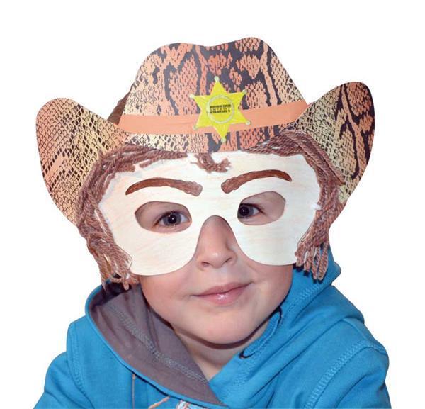 Blanco maskers - 6 stuks, kinderfeestje