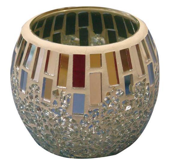 Crackle Mosaik Platte - 15 x 20 cm, spiegel