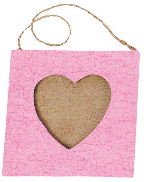 Cadre en papier mâché, cœur petit