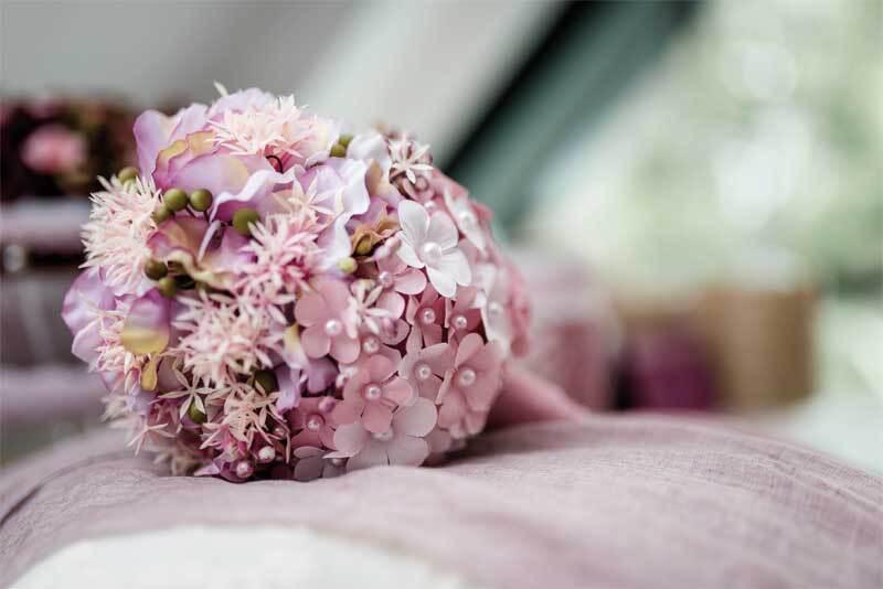Papier-Blüten - Ø 4 cm, rosa