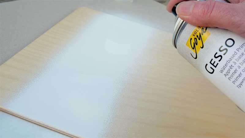Gesso Spray Grundierung - 400 ml, weiß