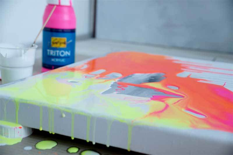 Triton Acrylic - 750 ml, brillantocker hell