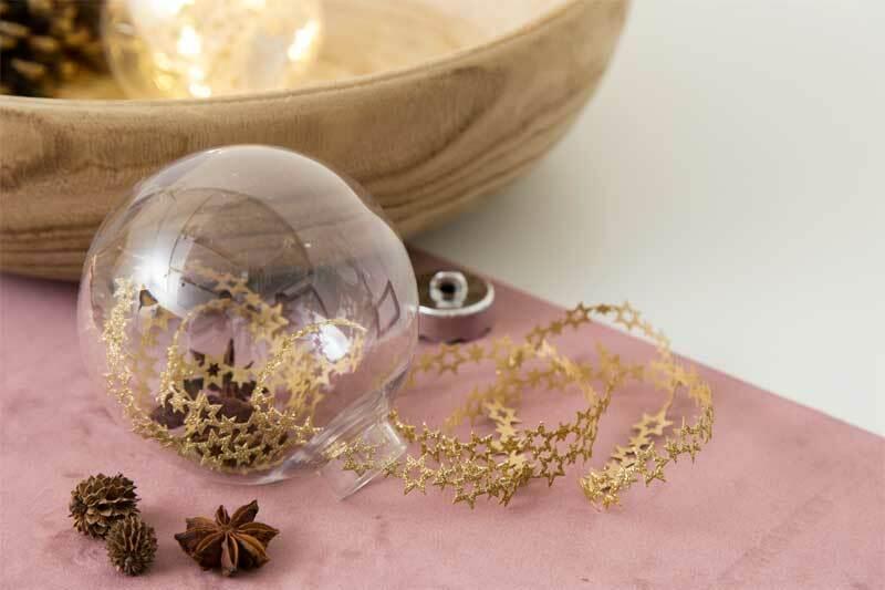 Boule plastique - transparente, Ø 80 mm