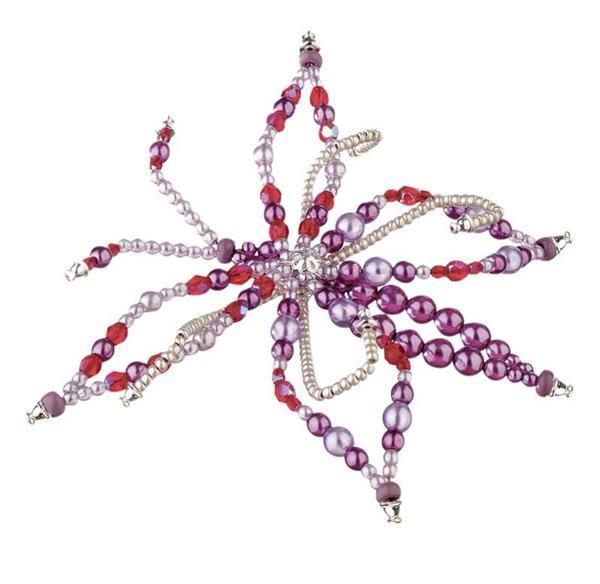 Perles de verre cirées - Ø 8 mm, 50 pces, lavande