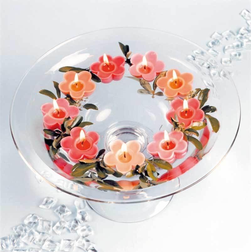 Gietvorm - drijfkaarsen, bloem