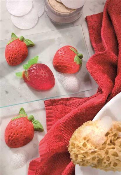 Seifengießform, Erdbeere