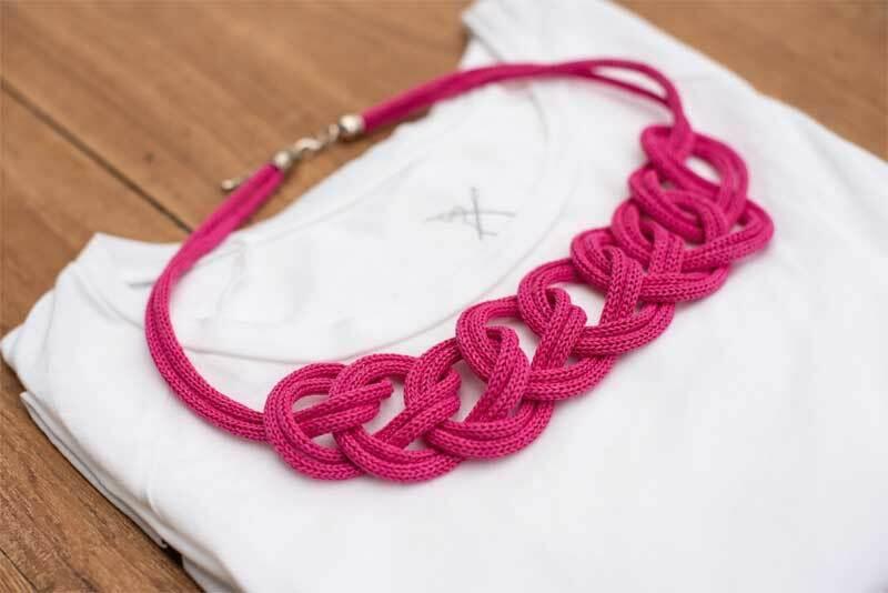Strickschlauch - Ø 4 mm, pink