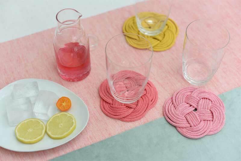 Strickschlauch - Ø 4 mm, rosa