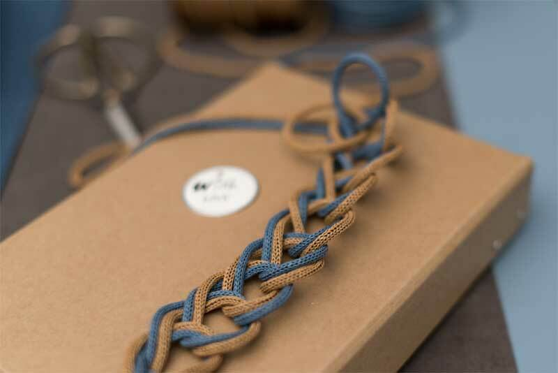 Manchon tricot - Ø 4 mm, bleu