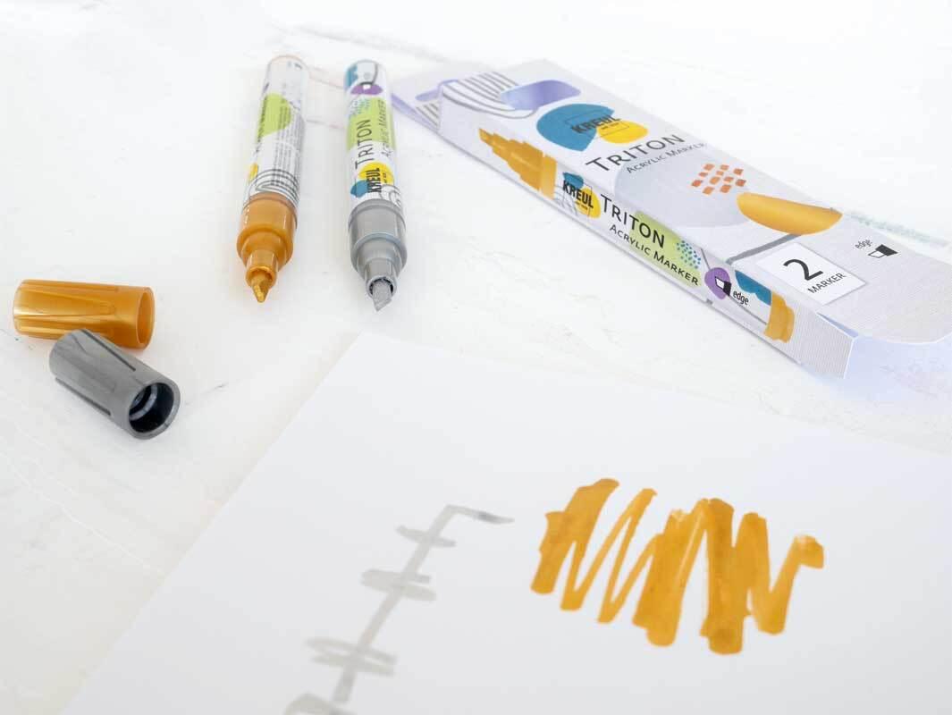 Acrylic Paint Marker set - 1 - 4 mm, goud-zilver