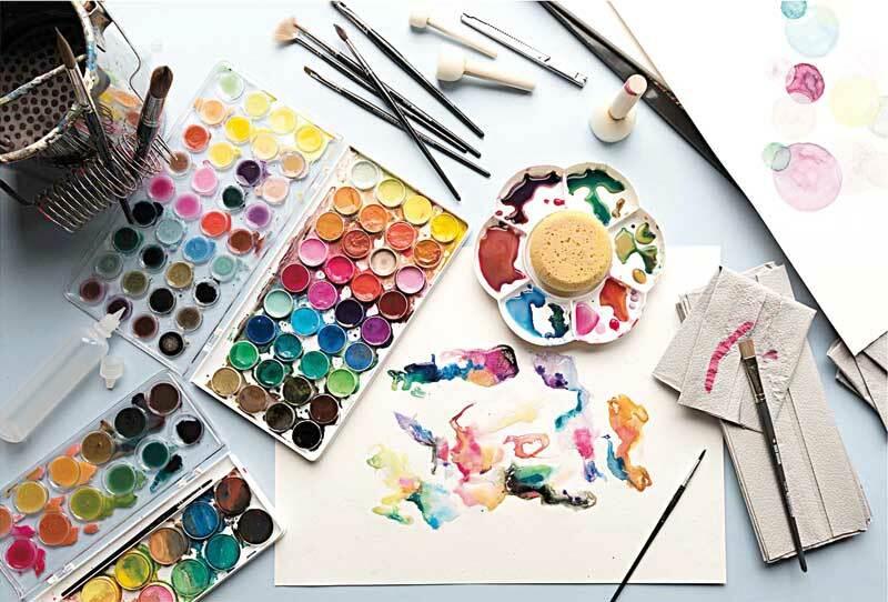 Kunstenaars-waterverfset - 36 kleuren, basiskleure