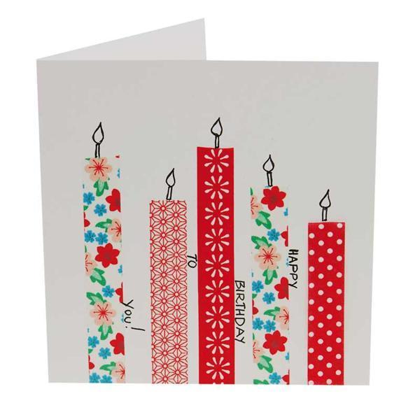 Dubbele kaarten vierkant, 5 st. wit