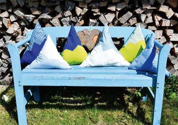 Baumwollstoff - gemustert, Blumen blau