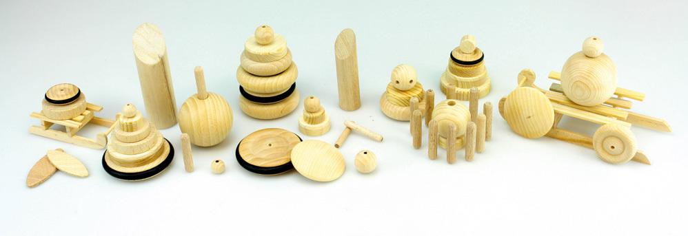 Différents articles en bois