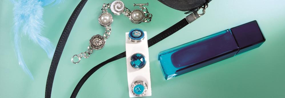 Bracelets avec boutons pression