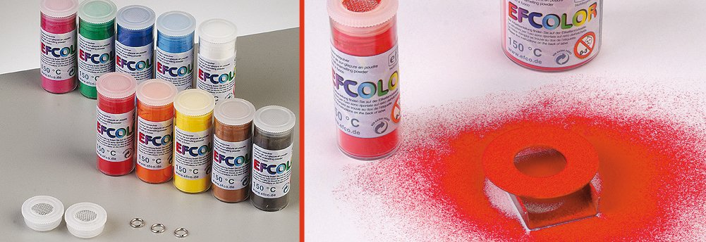 Efcolor gekleurd glazuurpoeder