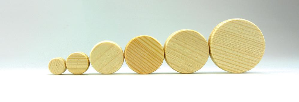 Fichtenholzscheiben