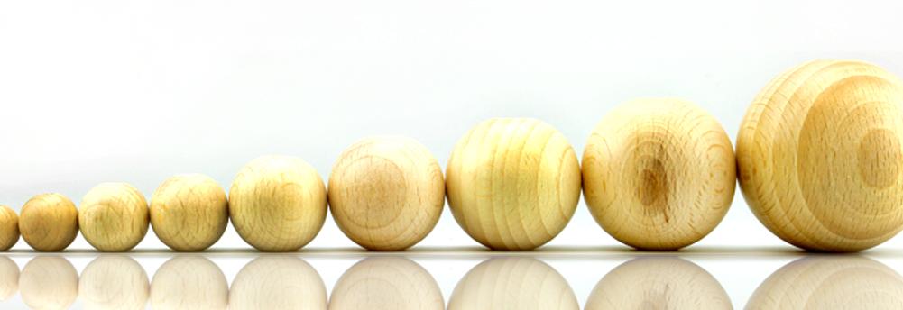 Holzkugel Buche MIT Bohrung & OHNE Bohrung