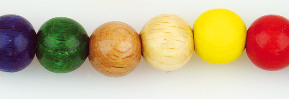 Houten kralen Ø 10 mm