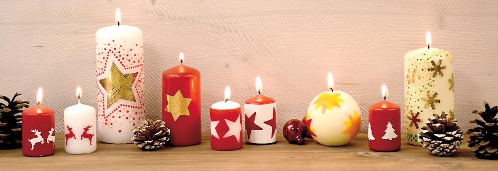 Kaarsen versieren