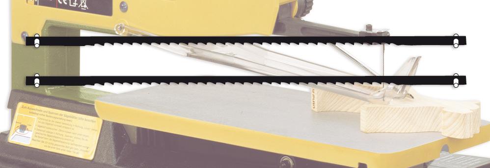 Laubsägeblätter für Maschinen