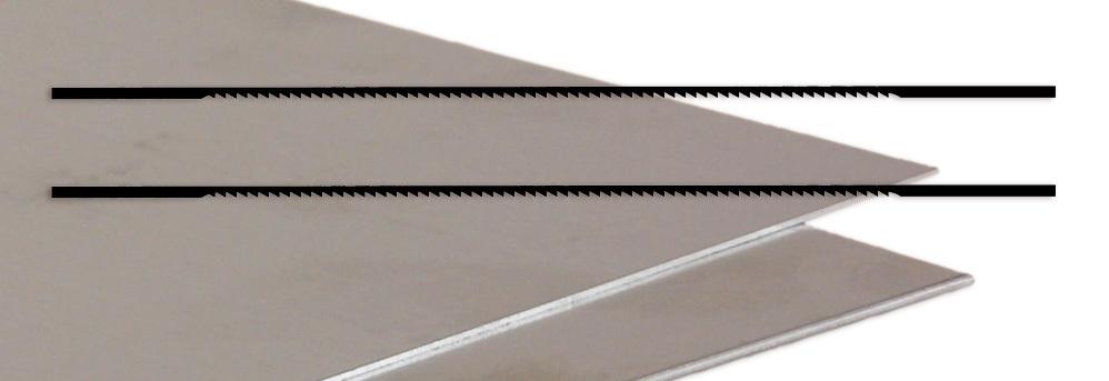 Laubsägeblätter Metall