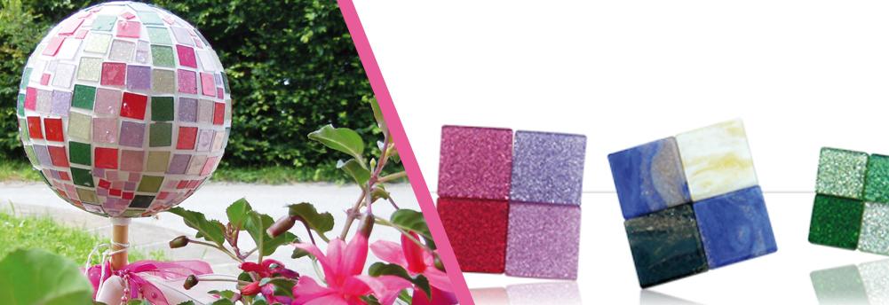 Mosaiksteine - Glitter und Marmor Mix