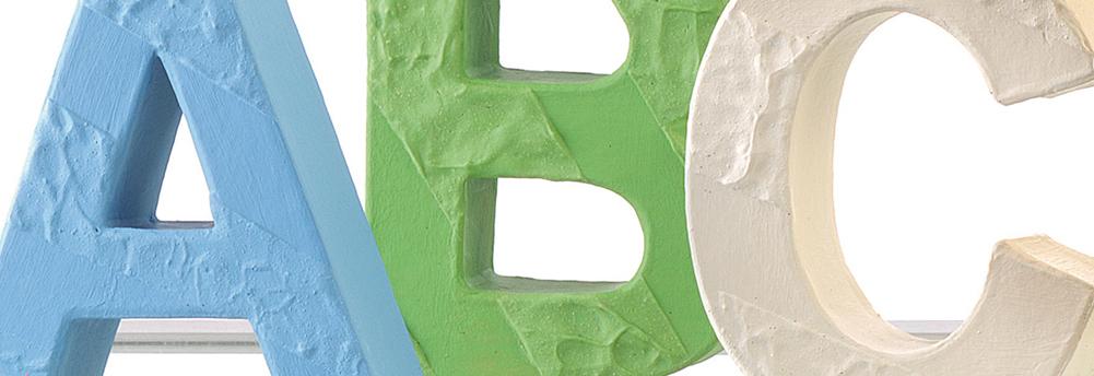 Pappmache Buchstaben & Zahlen