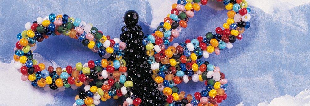 Perles de rocailles avec insert argenté Ø 4 mm