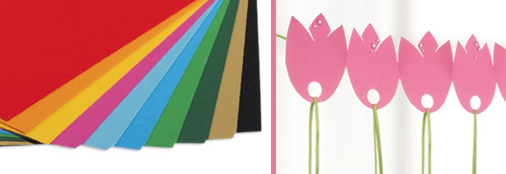 Gekleurd tekenpapier 10 st./pak, 50 x 70 cm