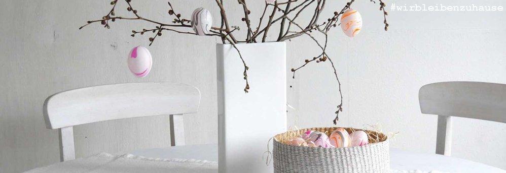 #wirbleibenzuhause - Eier marmorieren